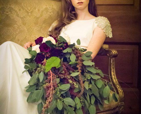 wedding bouquet flowers - Tied Shower