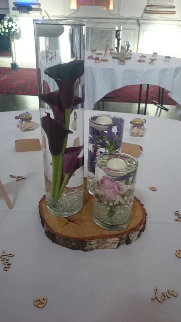 Cylinder vases 3 heights