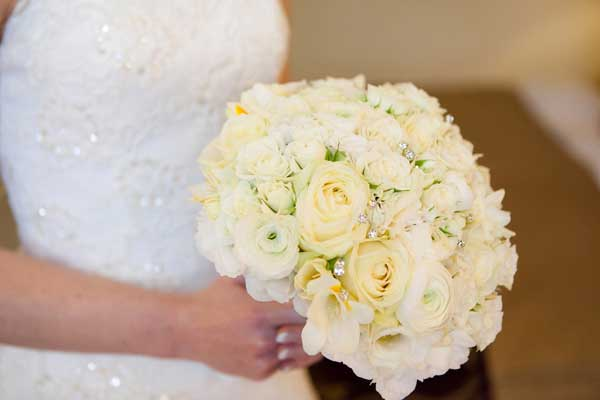 White bride's bouquet
