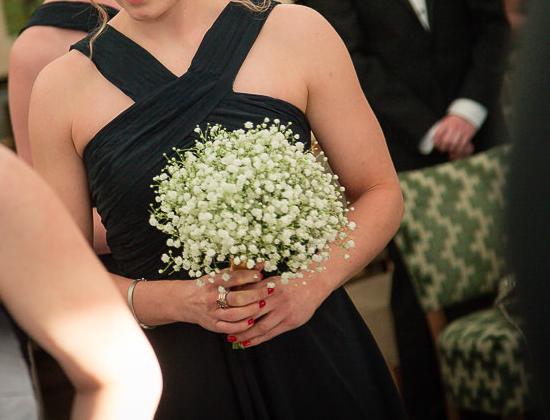 Bridesmaid bouquet of gyp