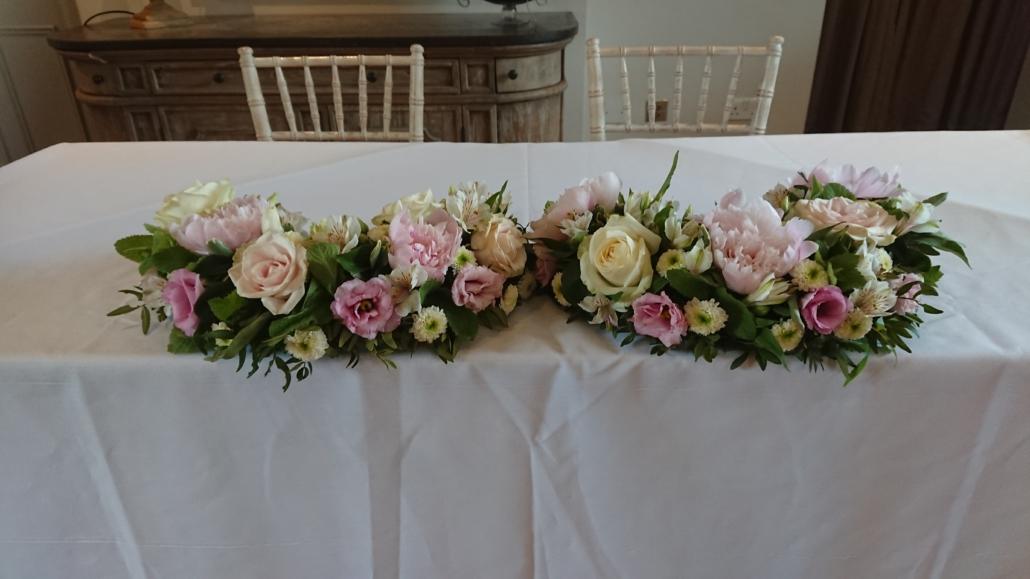 Ceremony table at Doddington Hall Lincoln