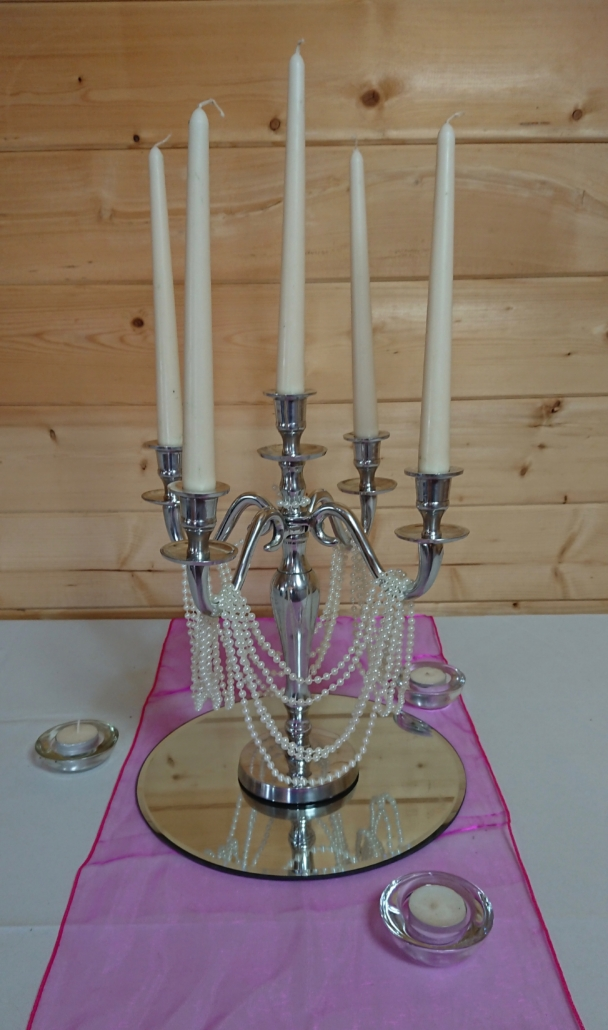 Small candelabra with pearls