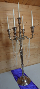 Tall candelabra with pearls